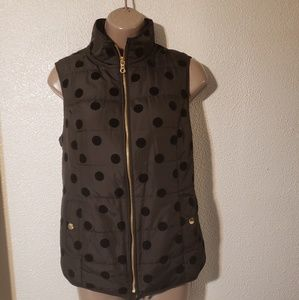 Charter Club Jackets & Coats - Charter Club puffer vest sz xsmall  with polka dot